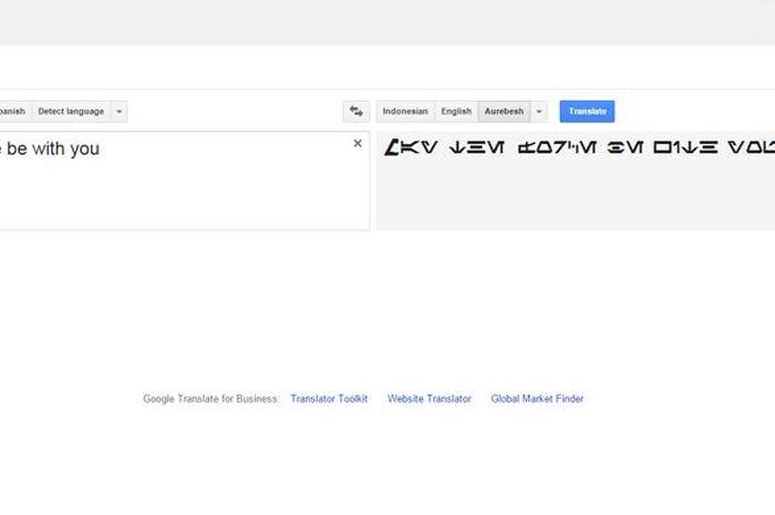 Terjemahkan Bahasa Star Wars Dengan Google Translate Semua Halaman